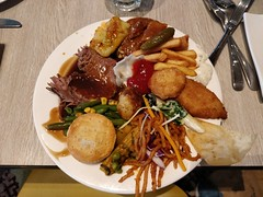 First plate - savoury - Kitchen Workshop, Crown Casino Melbourne (avlxyz) Tags: buffet allyoucaneat casino
