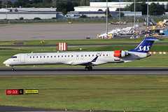 SAS Scandinavian Airlines Bombardier CRJ-900LR EI-FPP BHX (bhx_flights) Tags: bhx egbb airport birminghamairport birmingham sas scandinavianairlines crj900 bombardier