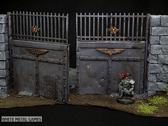 Compound Doors Terrain (whitemetalgames.com) Tags: whitemetalgames wmg white metal games painting painted paint commission commissions service services svc raleigh knightdale northcarolina north carolina nc hobby hobbyist hobbies mini miniature minis miniatures tabletop rpg roleplayinggame rng warmongers wargamer warmonger wargamers tabletopwargaming tabletoprpg jungle gatehouse doors compound
