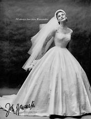 John Wanamaker 1955 (barbiescanner) Tags: johnwanamaker vintage retro fashion vintagefashion 50s 50sfashions alicebruno 1950s 1950sfashions vintageadvertising weddingdresses vintageweddingdresses