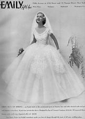 Emily 1955 (barbiescanner) Tags: emily annklem vintage retro fashion vintagefashion 50s 50sfashions 1950s 1950sfashions 1955 vintageadvertising weddingdresses vintageweddingdresses