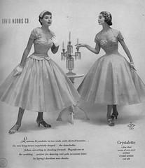 David Morris Co. 1955 (barbiescanner) Tags: vintage retro fashion vintagefashion 50s 50sfashions 1950s 1950sfashions 1955 davidmorrisco vintageadvertising vintagebrides