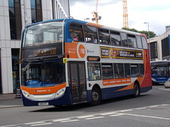 Stagecoach ADL Enviro 400 (Scania N230UD) 15673 KX10 KTC (Alex S. Transport Photography) Tags: bus outdoor road vehicle stagecoach stagecoachmidlandred stagecoachmidlands adlenviro400 enviro400 e400 scania n230ud routex18 routex18branding 15673 kx10ktc