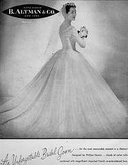 B. Altman and Co. 1955 (barbiescanner) Tags: vintage retro fashion vintagefashion 50s 50sfashions 1950s 1950sfashions 1955 baltmanandco vintageadvertising vintagebrides vintageweddingdresses