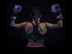 Kickboxing in the dark VI (ndrearu) Tags: lowkey dark kickboxing boxing sport girls evil black canon canon6dmarkii inside studio portrait lights fixed shoot photoshoot bad low