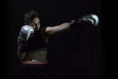 Kickboxing in the dark VII (ndrearu) Tags: lowkey dark kickboxing boxing sport girls evil black canon canon6dmarkii inside studio portrait lights fixed shoot photoshoot bad low