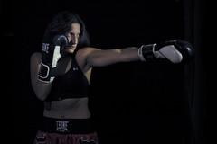 Kickboxing in the dark VIII (ndrearu) Tags: lowkey dark kickboxing boxing sport girls evil black canon canon6dmarkii inside studio portrait lights fixed shoot photoshoot bad low