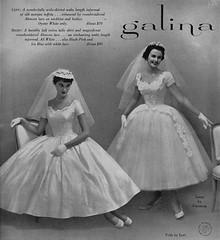Galina 1955 (barbiescanner) Tags: galina patsyshally vintage retro fashion vintagefashion 50s 50sfashions 1950s 1950sfashions 1955 weddingdresses vintageweddingdresses