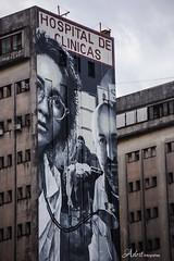 Haciendo foco en salvar vidas (Adrit fotografías) Tags: street city streetart artecallejero mural muralhospitaldeclínicas ciudaddebuenosaires argentina edificios homenajevíctimasygentequeayudóatentadoamia2019 hospitaldeclínicas martínron streetartbuenosairescity elcorredordelamemoria ron