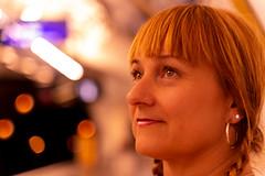 Debbie Paris Metro (S Hancock) Tags: sony a7 debbie beautiful paris metro lights portrait woman