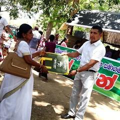 Giving Echofriendly Bags to Katharagama Pilgrims - Sri Lanka Parisara Sanwedenge  Sansadaya (sirimannevajira) Tags: instagramapp square squareformat iphoneography uploaded:by=instagram