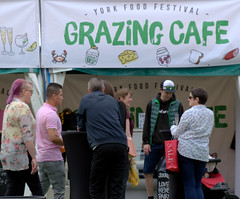 Grazing Cafe at York Food Festival (Tony Worrall) Tags: yorkshire yorks scene scenery northyorkshire resort yorkshirephotos east eastern york north update place location uk england visit area attraction open stream tour country item greatbritain britain english british gb capture buy stock sell sale outside outdoors caught photo shoot shot picture captured ilobsterit instragram foodfestival streetfood foodie eat candid street people shoppers group grazingcafe