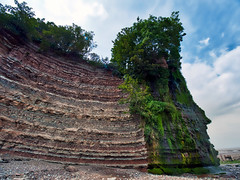 St Audries Waterfall (Nevrimski) Tags: st audries waterfall rocks strata coastline
