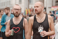 The Boys Are Back in Town (davidwoganphoto) Tags: 1 1v 2019 400 5000 85mm hs analog canon couple davidwogan ef eos film gay is kodak lgbt london men nikon people portra pride scanner street trafalgarsquare england unitedkingdom