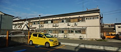 20190519_DP0Q8977-21x9-mod (NAMARA EXPRESS) Tags: street morning color spring outdoor fine osaka toyonaka japan wide sigma ultrawide foveon quattro x3 superwide spp dp0 namaraexp spp661 house car yellow automobile apartment vehicle 21x9