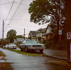 Portland, Oregon (bior) Tags: portland oregon hasselblad500cm hasselblad portra portra160nc kodakfilm expiredfilm mediumformat 120 square street car suburbs residential sidewalk
