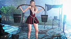 Hard work.. (Brenda Karu) Tags: sl secondlife slfashion slevent skirt eventsl fashionsl mesh maitreya dress iᐸ3f