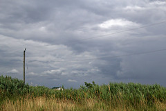Mayfield at Ten (Doris Burfind) Tags: summer storm clouds sky farm barn grass sideroad rural countryside