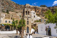 Monemvasia-lower town square (doveoggi) Tags: travel monemvasia coast greece 9157 square church