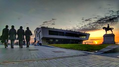 Merseyside at Sunset (pallab seth) Tags: beatles liverpool architecture waterfront merseyside portcity heritage unescoworldheritagesite landscape cityscape evening england city summer tourism touristdestination mobilephotography sunset merseyferries