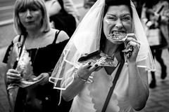 lust for pizza (Gerrit-Jan Visser) Tags: amsterdam blackandwhite bnw bride food hungry lust pizza streethotography