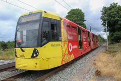 Metrolink 3017 (Mike McNiven) Tags: manchester metrolink tram metro lightrail lrv shaw crompton rochdale towncentre exchangesquare didsbury eastdidsbury failsworth vodafone advert adveristment wrap vinyl