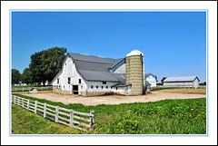 An Enormous Amish Barn Beyond the Fenceline (sjb4photos) Tags: indiana shipshewana indianaamishcountry farm barn fence fencefriday hff