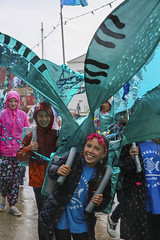 Mevagissey Feast Week, June 2019, Cornwall (Steve Weaver) Tags: mevagissey feast week summer rain june 2019 since1754 cornwall lovecornwall kernow parade procession children families happy sad smiles outdoors raining