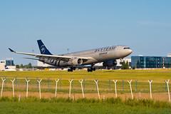 A330-300 | Aeroflot(SkyTeam livery) | VQ-BCQ (matousek1199) Tags: lkpr airliner aeroflot rwy24 landing rare