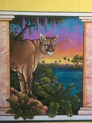 Florida panthers on the prowl in Gulfport (st_asaph) Tags: peninsulainn keithstillwagon floridapanther gulfportfl streetart wallart mural