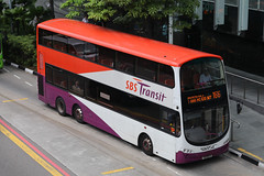 SBS3171X, New Bridge Road, Singapore, October 10th 2018 (Southsea_Matt) Tags: sbs3171x route166 sbstransit newbridgeroad singapore october 2018 autumn canon 80d sigma 1850mm bus omnibus transport vehicle wright eclipse gemini volvo b9tl triaxle