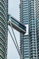 Bridge between towers. (OAS PHOTOS) Tags: malaysia petronas bridge travel towers cladding architecture curtainwall metalcladding petronastower structure kualalumpur