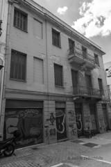 Closed. (Dr_Babis) Tags: nikon d610 fx wide bw blackwhite monochrome 24mm nikon1635mmf4vr greece attiki athens hellas abandoned architecture building city old