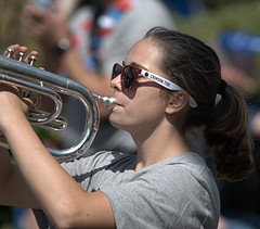 Blowing Her Horn (Scott 97006) Tags: girl female musician parade shades cute ponytail crimsontide