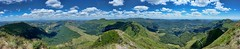 View from the top of Le Puy Mary - Vue depuis le sommet du Puy Mary (Sebastien Vermande (Only the Weekend)) Tags: canon100d france auvergne été summer massifcentral panorama panoramic paysage landscape nature vallée valley montagne mountain vert green volcan volcano ciel sky nuages clouds hdr sigmaart1835mmf18dchsm vermande cantal