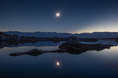Double Totality (jpmiss) Tags: rodeo eclipse cuestadelviento reflection argentina lake totale voyage paysage jpmiss astroscape argentine landscape sauvage cordillière canon mirror photopills total andes lac cordilliera reflet astronomy solar nature astronomie sanjuan 6d soleil travel 1635mm 2019 wilderness sun iglesia