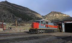 Martin Shops (GLC 392) Tags: utah ut martin locomotive shop shops railroad railway train mk5000 mk503 morrison knudeson past time mountain mountains 5004 water tower rainbow