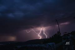 Rayos (Julio Millán) Tags: rayos miradordealocen guadalajara españa nubes nublado naturaleza cielo nocturna