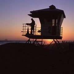 Tower 2, Huntington Beach (Film3688) Tags: hasselblad500cm zeiss80mm hasselblad 120 6x6 mediumformat analog film losangeles huntingtonbeach