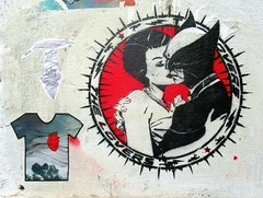 The Lovers (Robert Saucier) Tags: rome roma streetart stencil sticker thelovers mur wall img7368