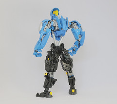 J450N (Jason) Swords Specialist (Ron Folkers) Tags: lego bionicle technic moc blue black yellow light grey sword robot