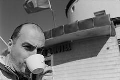 Espresso (vladixp) Tags: fp4 fp4plus fp480 d76 14min 20c 12 praktica mtl5 flektogon k2 pf7250u 3600dpi 35mm yellowfilter filmscan 35mmfilm film bw bwfilm filmphotography negative scanned svizzera schweiz switzerland suisse simplon monteleone espresso selfie