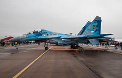 EGDY - Sukhoi Su-27UB - Ukranian Air Force - 71 Blue (lynothehammer1978) Tags: egva ffd raffairford royalinternationalairtattoo royalinternationalairtattoo2019 ukrainianairforce 71blue sukhoisu27ub