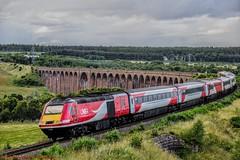 43206 @ Culloden (A J transport) Tags: class43 intercity mtu16v4000 hst highlandmainline pushpull 43206 culloden vtec viaduct lner nikkon d5300 dlsr diesel railway trains scotland 125