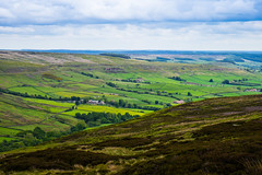 The Mining Valley from Young Ralphs Cross, the old Kilns can still be seen. (Geordie_Snapper) Tags: blakeyridge canon2470mm cloudywithsomesun coldday june landscape moors northyorkshiremoors outdoors summer valleysfromyoungralphscross