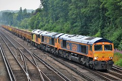 Shed shed tug.... (stavioni) Tags: shed tug gbrf class66 class60 ex colas gb railfreight 66736 66761 60026 diesel rail railway train locomotive