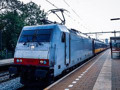 NSR 186 149 (ex ITL) doorijdend als IC trein @ Eindhoven (Avinash Chotkan) Tags: ns traxx br186 bombardier 186149 ic passengertrain trains thenetherlands