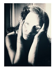Connecting with my inner Diva... (Lorre_1) Tags: eyes artofselfportraiture sweden indoor highkey light diva noir woman selfportrait
