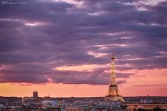 Joyau Parisien (bertrand kulik) Tags: toureiffel cloud nuage sky ciel rose pink sunset