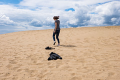 Dancing in the sun. (lolita.khlynina) Tags: summer sky woman sun holiday beach nature girl beautiful yellow happy photography photo dance sand dancing russia thing picture things jacket kazan россия девочка женщина девушка пляж казань песок trip travel cloud clouds day natural sunny